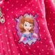 Dětský, dívčí mikina na zip s kapucí princezna Sofie