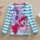Dětské, dívčí tričko modré proužkové My little Pony