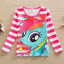 Dětské, dívčí tričko růžové proužkové My little Pony