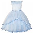 Dětské, dívčí společenské šaty, šaty pro družičku - modré