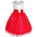 Dětské, dívčí společenské šaty, slavnostní třpytivé šaty - červené
