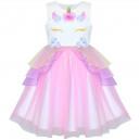 Dětské, dívčí společenské šaty - jednorožec unicorn - 5 barev