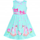 Dětské, dívčí letní šaty tyrkysové s jednorožcem