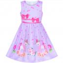 Dětské, dívčí letní šaty fialové s jednorožcem