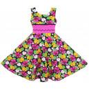 Dětské, dívčí letní květinové šaty barevné