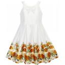Dětské, dívčí společenské bílé šaty s růžemi