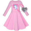 Dětské šaty s dlouhým rukávem a měnícím se obrázkem - 3 barvy