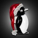 Módní brož s krystaly - tučňák