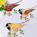 Módní brož s krystaly - ptáček