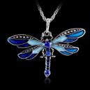 Módní dámský řetízek s přívěškem modrá vážka