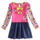 Dětské dívčí šaty, tunika s dlouhým rukávem růžová My Little Ponymi