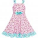 Dětské, dívčí letní šaty jemně růžové květinové