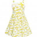 Dětské, dívčí letní šaty bílé žluté kvítky