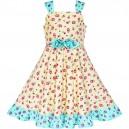 Dětské, dívčí letní šaty žluté květinové
