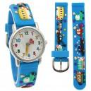 Dětské, chlapecké, silikonové hodinky 3D - auta