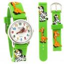 Dětské, chlapecké, silikonové hodinky 3D - zvířátka