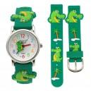 Dětské, chlapecké, silikonové hodinky 3D - krokodýl