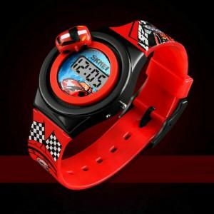 Dětské, chlapecké, silikonové hodinky Cars s 3D autem