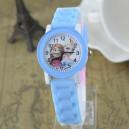 Dětské, dívčí, silikonové hodinky Frozen - modré