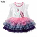Dívčí šaty, tunika s tutu sukýnkou jednorožec