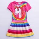 Dětské dívčí šaty, tunika s krátkým rukávem My little pony - růžová