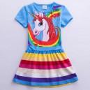 Dětské dívčí šaty, tunika s krátkým rukávem My little pony - modrá