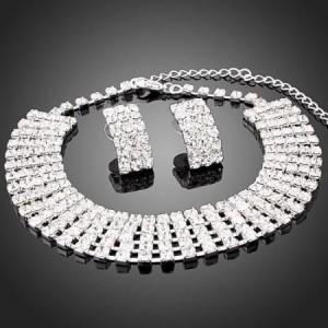 Luxusní set - náhrdelník + náušnice Swarovski krystal  G0084