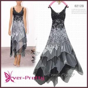 Úchvatné krajkové černé plesové šaty Ever Pretty 6212B