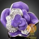 Luxusní prsten, velká růže, Swarovski krystal J1012