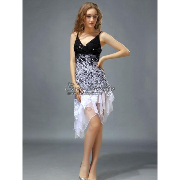 Úchvatné volánkové krajkové společenské dámské šaty Ever Pretty 0045 ... a36ce88fdf