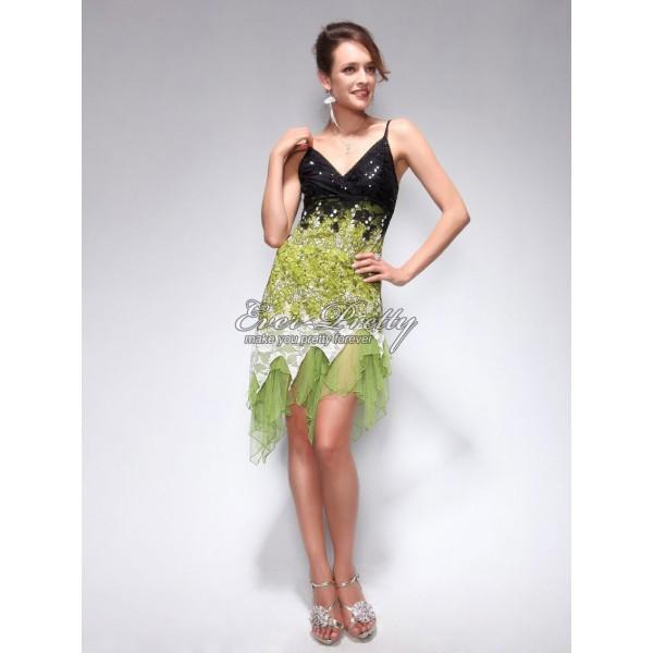 Úchvatné volánkové společenské šaty Ever Pretty 0045 - zelené ... 47778f1b5c