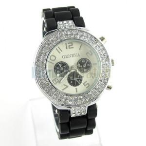 Dámské silikonové hodinky s krystaly 7 barev