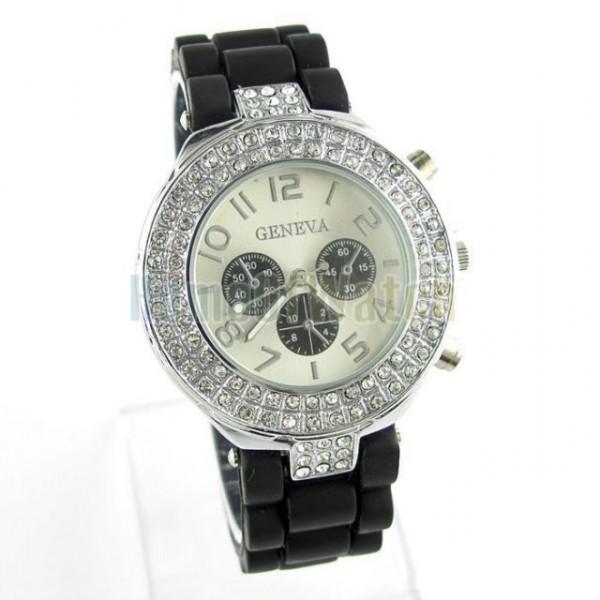Dámské silikonové hodinky s krystaly 7 barev - Angel fashion 1006710f80