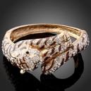 Luxusní zlatý náramek, tiger swarovski krystal B0728