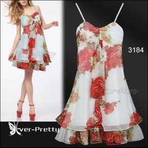 Luxusní letní, večerní květinové šaty Ever Pretty 3184