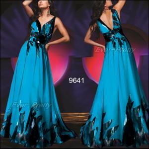 Luxusní šifónové večerní šaty Ever Pretty 9641 - modré