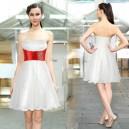 Rozkošné bílé krátké šaty s volánkovou sukní  Ever Pretty 3215