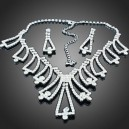 Luxusní set - náhrdelník + náušnice Swarovski krystal  G0419