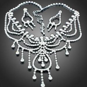 Luxusní set - náhrdelník + náušnice Swarovski krystal pavouk G0416