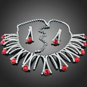 Luxusní set - náhrdelník + náušnice Swarovski krystal G0418