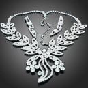 Luxusní set - náhrdelník + náušnice Swarovski krystal pavouk G0412