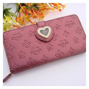 Dámská peněženka Anna Sui vínová srdce B