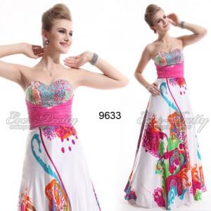 Rozkošní bílé společenské šaty s ornamenty Ever Pretty 9633