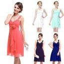 Andělsky jemné šaty na ramínka s květinou Ever Pretty 3266 - 5 barvy