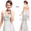 Stříbrné společenské šaty s ozdobou Ever Pretty 9722