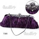 Luxusní dámská společenská kabelka, fialová s kamínky Ever Pretty 07385