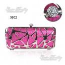 Luxusní dámská společenská kabelka, sytě růžová, s kamínky Ever Pretty 03652