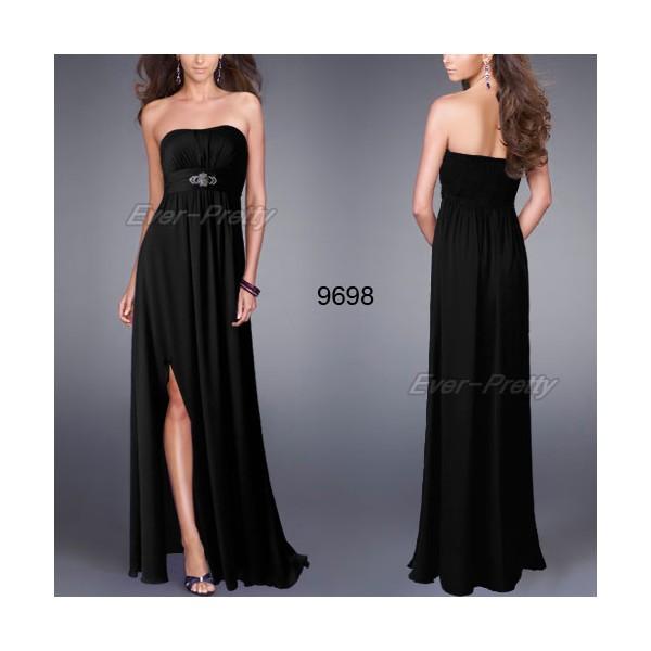 47d0acc9f94 Saténové společenské šaty Ever Pretty bez ramínek 9698 - 4 barvy ...