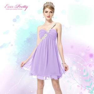 Rozkošné koktejlové dámské, dívčí šaty - fialové lila