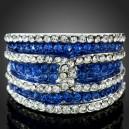 Luxusní prsten bílé zlato, safír Swarovski krystal J2165